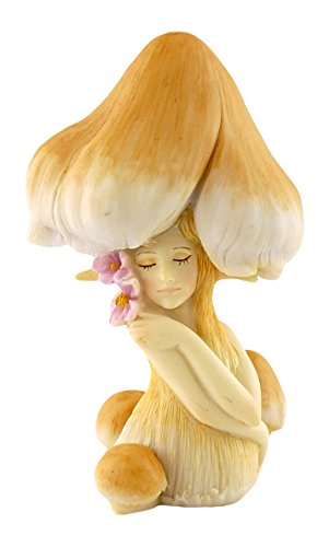 Top Collection Miniature Garden Enchanted Mushroom Fae (Mushroom Statue)