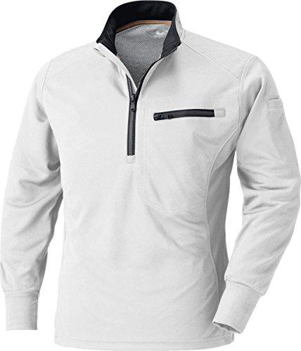 移動枯れる壮大MK:250 肩を守る長袖ジップアップシャツ【脇消臭 吸汗速乾 すぐ乾く 肩パット 反射機能】