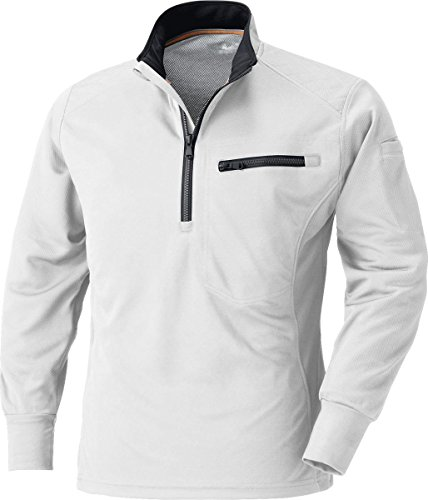 MK:250 肩を守る長袖ジップアップシャツ【脇消臭 吸汗速乾 すぐ乾く 肩パット 反射機能】
