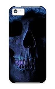 Rugged Skin Case Cover For Iphone 5c- Eco-friendly Packaging(death Skull)