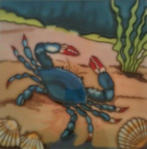 Hand Painted Ceramic Wall Tile - 3