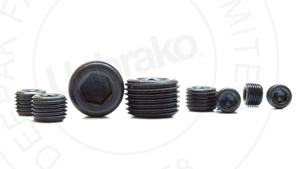 7//8 Taper Pressure Plug Alloy Steel Pack of 50 Teflon Coated 1//2-14 NPTF LEVL-Seal Thread