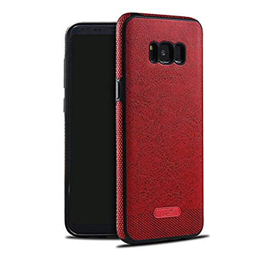 Case Apply for Samsung Galaxy S8 Plus Case Slim Leather Protective case Shockproof Bumper Cover for Galaxy s8 (Oxblood red, Samsung Galaxy S8 Plus)