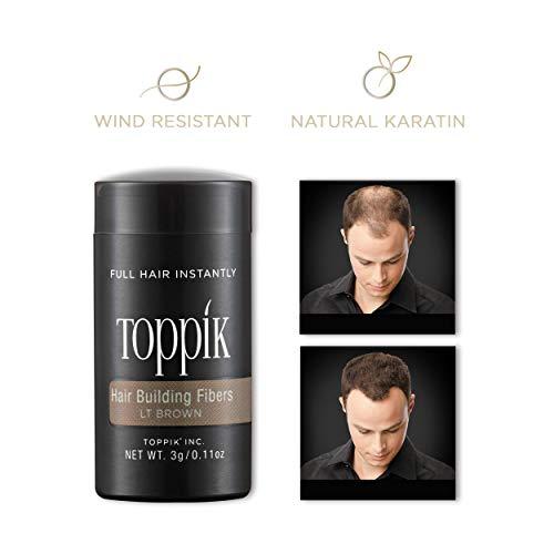 Toppik Hair Building Fibers, Light Brown, 3 g