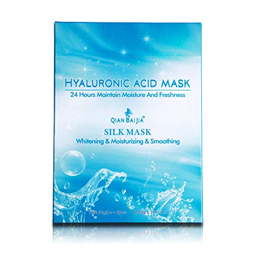QBEKA Hyaluronic Acid Silk Facial Mask, Essence Sheet - Anti Aging & Wrinkle, Brightening & Moisturizing & Smoothing, Firming Skin Strong Permeability Mask for Face 40g 1.35 Fl. oz/pcs 5 pcs (Best Anti Aging Techniques)