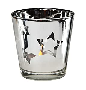 Stars Candle Holder  - Silver (2 Count)