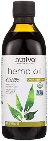 Organic Hemp Oil Cold-Pressed Unrefined 16 FZ - Ultra Premium Pain Relief Anti-Inflammatory, Stress & Anxiety Relief, Joint Support, Sleep Aid, Omega Fatty Acids 3 , Non-GMO