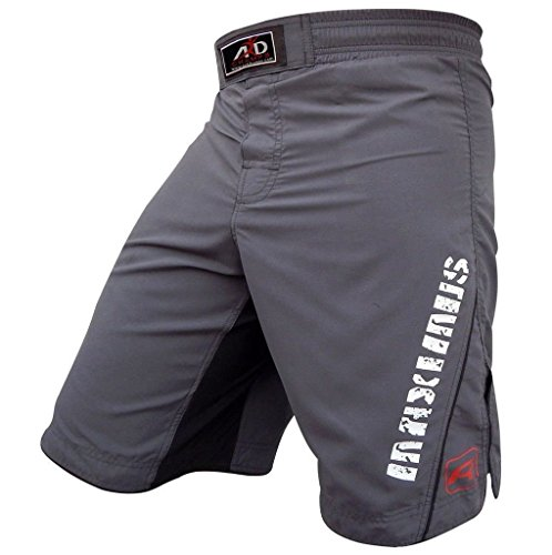 ARD MMA Fight Shorts UFC Cage Fight Clothing Grappling Muay Thai Kick Boxing (grey, medium)