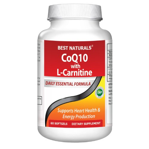 Best Naturals -- Q-Sorb Coenzyme Q10 30 mg with L-Carnitine Fumarate 250 mg -- 60 Softgels