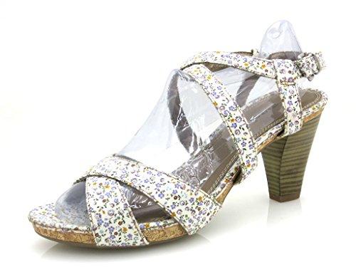 Tamaris Sandalette Schuhe High Heel Damenschuhe Blumen schick
