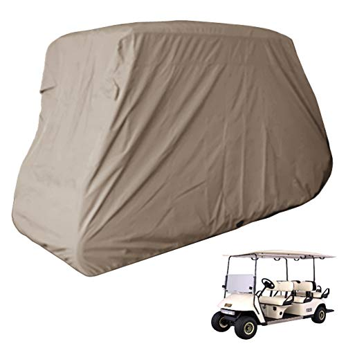 Deluxe 6 Passengers Golf Cart Cover fits E Z GO, Club Car, Yamaha model Taupe