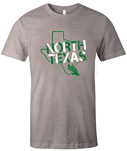 - Image One NCAA North Texas Mean Green Stenciled Short Sleeve Triblend T-Shirt, Large,AthleticGrey