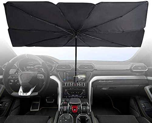 Moligh doll Voiture Parapluie Forme Pare-Soleil Parasol Auto Fen/êTre Avant Pare-Soleil Couvre Anti UV Sun Protector Pare-Brise B