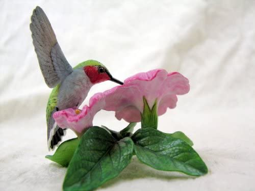 Lenox Ruby Throated Hummingbird Garden Birds Bird Figurine Porcelain Vintage