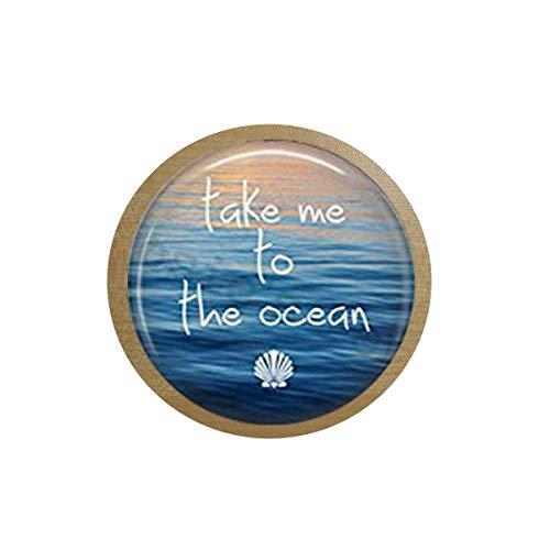 Ocean Hanger - take me to The Ocean - Summer Jewelry - Mermaid Jewelry - Summer Jewelry - Summer Beach icebox Sticker,Blackboard Sticker Quote Pendant Christian Insect Art Fridge