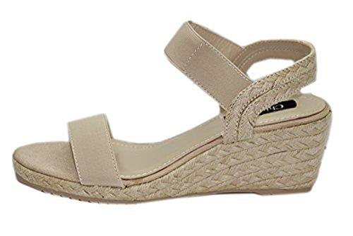 STEKOST - Zapatos de Punta Descubierta Mujer Beige