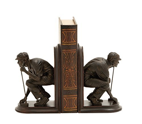 Benzara Unique and Stylish Golf Themed Bookends by Benzara