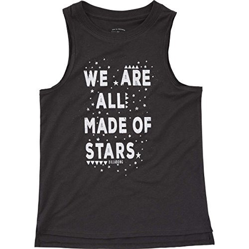 Billabong Girls Tank Top (Billabong Girls' Girls' Made Of Stars T-Shirt Off Black Large)