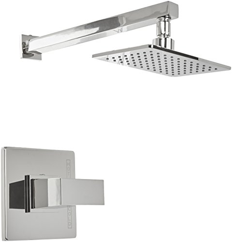 Danze D502562PNVT Modern Mid-Town Single Handle Shower Trim Kit with Efficient Flow Showerhead, Polished Nickel
