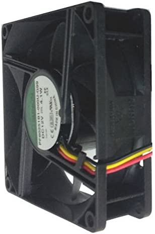 Sunon 80x80x25mm High Speed 12 Volt Fan with 3 Wire 3 Pin Connector PF80251-000U-G99