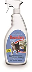 Lambert Kay Boundary Indoor/Outdoor Cat Repellent Pump Spray, 22 Ounces keeps cats away from furniture, trees, flower beds, shrubs, garbage cans and bags and other forbidden areas indoors and outdoors. Boundary will repel cats for up to 24 ho...