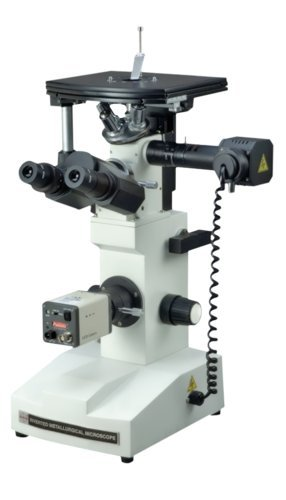 Radical Research 40-500x Inverted Metallurgical Metallograph Reflected Light Microscope w M FLAT Objectives Polarizing TV and PC Camera by Radical