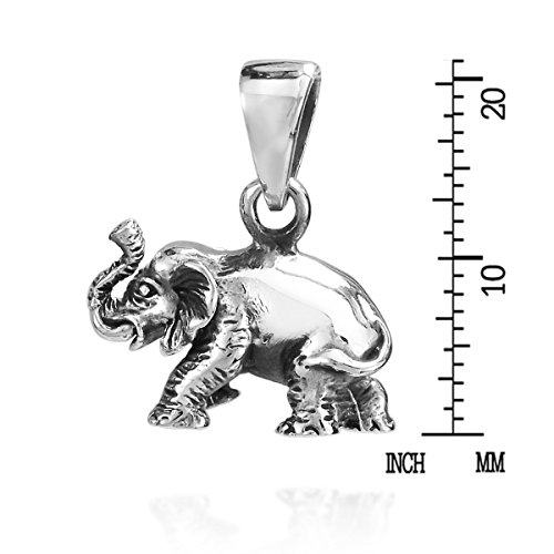 nbsp;pendentif Wild 925 Sterling Elephant 3d Argent 8qxpXv