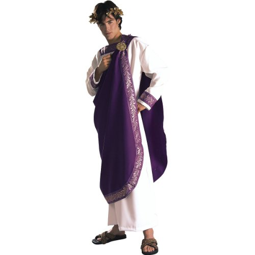 [Rubie's Costume Grand Heritage Collection Deluxe Julius Caesar Costume, Purple, Standard] (Roman Emperor Costume Accessories)