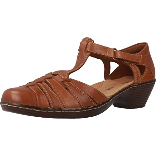 Shoe T Heeled Womens Tan Wendy Bar Clarks Alto FgBtYB