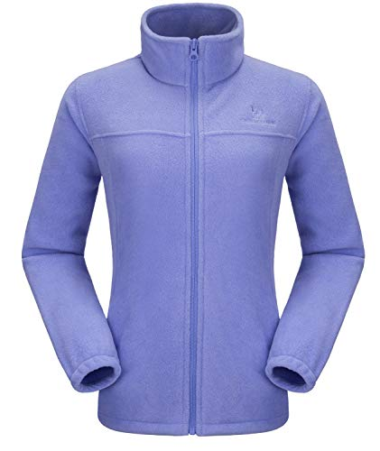 - CAMEL CROWN Women Full Zip Fleece Jackets with Pockets Soft Polar Fleece Coat Jacket Sweater for Spring Outdoor Blue M