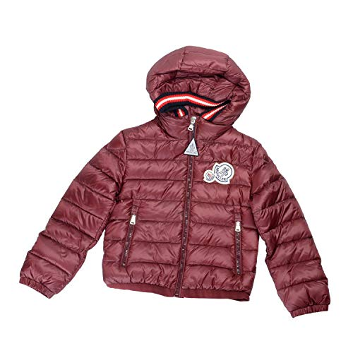 Moncler Kids's XAVIERE Burgundy Down Hooded Parka Jacket Moncler Sz 5A US 6Years ()