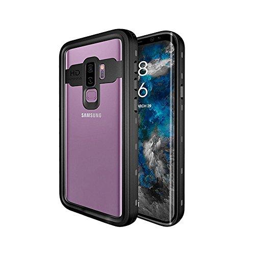 Idealforce Galaxy S9/S9 Plus Waterproof Case,Snowproof Shockproof Dirtproof IP68 Deep Waterproof Case Cover for Samsung Galaxy S9/S9 Plus (Black, Samsung Galaxy S9 Plus) by Idealforce