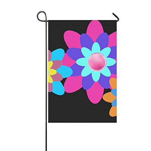 Home Decorative Outdoor Double Sided Flowers Yellow Pink Ora