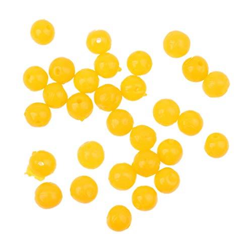 Ameglia 30Pcs Yellow Pop up Soft Corn Floating Baits Beads Coarse Carp Fishing Lures (Size - M) - Joint Rap Lure