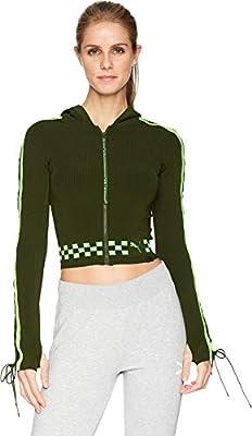 PUMA Womens x Fenty by Rihanna Laced Sleeve Sweater Zip Hoodie