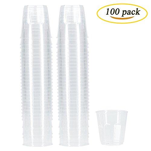 6 Ounce Plastic Cups (Benail Plastic Disposable Cups Hard Disposable Plastic Party Tumblers 6-Ounce 100-Pack)