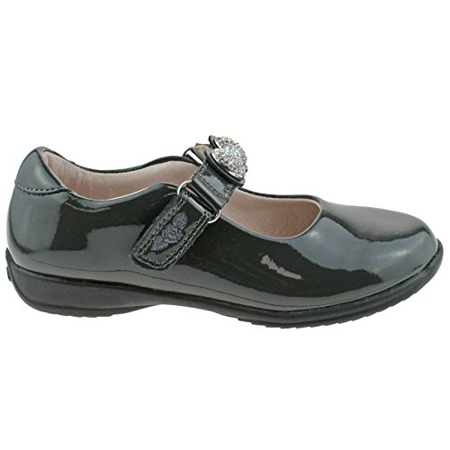 F uk Fitting Mandy Shoes 32 13 School Lelli Kelly Patent Lk8304 dr01 Leather Grey tqzwR7qv