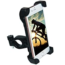 [Upgrade]Bike Phone Mount, Tryone Bike Mount Bike Holder & Motorcycle Phone Mount Holder for iPhone or Android Smartphones - Max 0.5 Inch Thickness for a Phone with a Case