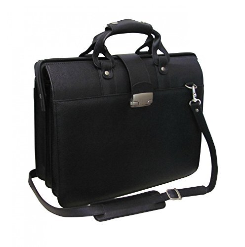 AmeriLeather Leather Doctor's Carriage Bag (Black) ()