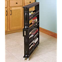 Slim Can and Spice Racks black