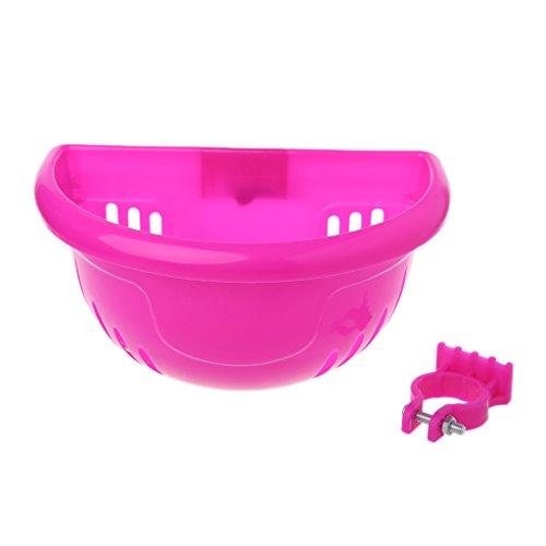 ULKEMEBicycle Scooter Basket Children Kid Bike Plastic Front Handlebar Bag Accessories (pink) (Liner Basket Scooter)
