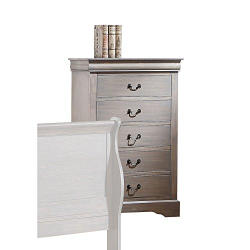 ACME Furniture Louis Philippe III 25506 Chest, Antique Gray