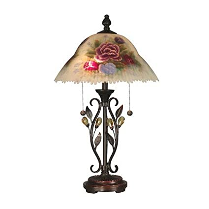 520b6750a27e Dale Tiffany TT10449 Hand Painted Crystal Leaves Table Lamp