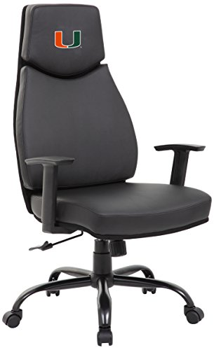 PROLINE NCAA College Miami Hurricanes Leather Office Chair - Miami College Leather
