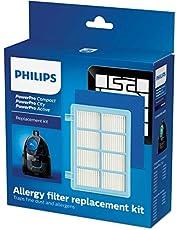 Philips FC8010/02 Oryginalny Zestaw Filtrów Wymiennych Do Odkurzaczy Powerpro Compact i Active, Plastik, Niebieski/Biały