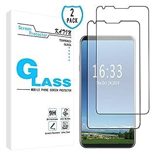 KATIN LG V30 Screen Protector - [2-Pack] for LG V30/ V30+/ V30 Plus Tempered Glass No-Bubble, 9H Hardness, Easy to Install