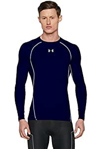 Under Armour Men's HeatGear Armour Long Sleeve Compression Shirt, Midnight Navy/Steel, X-Small