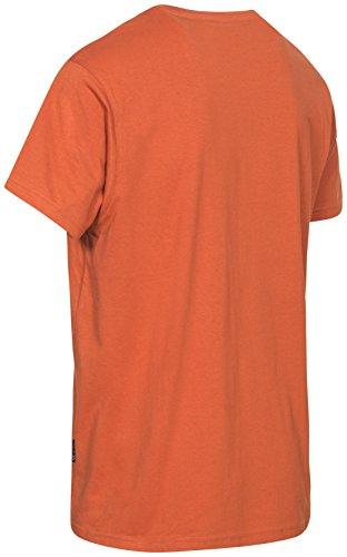 T Libero Sul divertimento Uomo Trespass Con Petto Uomo Per tempo shirt adulti Burnt Da Visiera Stampa Esterni sport Orange hsrQdtCxB