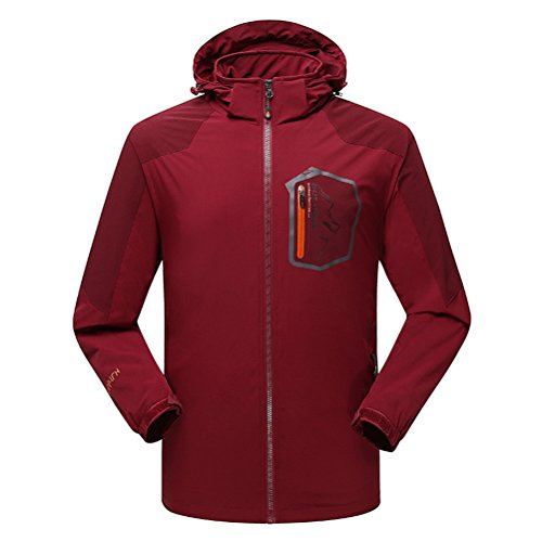 [Timeiya Men's Outerwear Mountain Windproof Jacket Hooded Hiking Sportswear Spring] (Male Figure Skater Costume)