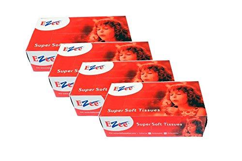 Ezee Tissue Car Box – 100 Pulls (Pack of 4)
